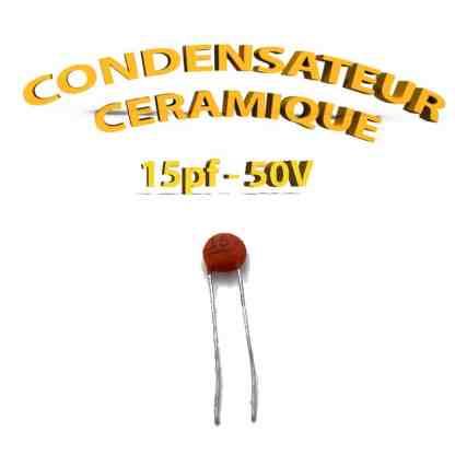 Condensateur Céramique 15pf - 15 - 50V
