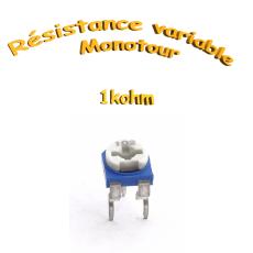 résistance variable mono-tours 1kohm,Potentiomètre ajustable 1kohm