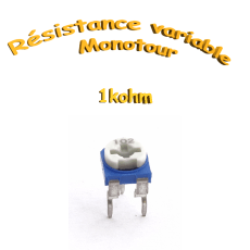 résistance variable mono-tours 1kohm,Potentiomètre ajustable 1kohm