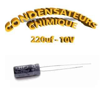 Condensateur chimique 220uF 10V