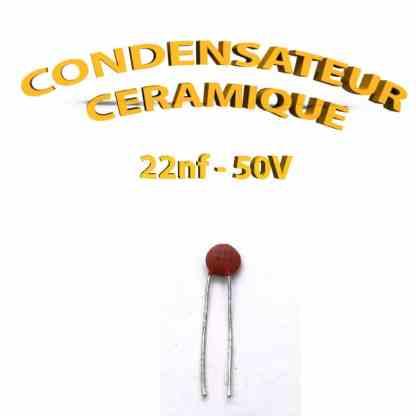 Condensateur Céramique 22nf - 223 - 50V