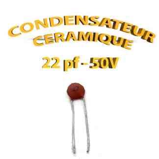 Condensateur Céramique 22pf - 22 - 50V