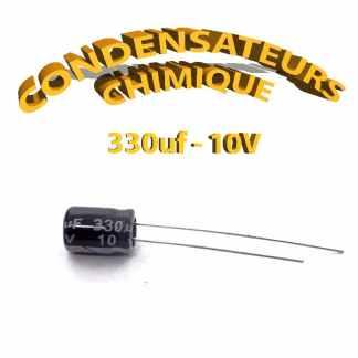 Condensateur chimique 330uF 10V