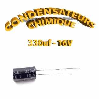 Condensateur chimique 330uF 16V
