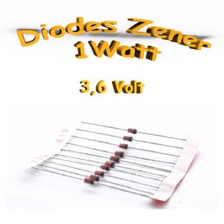 Diode zener 3V6 - 1W - 1N4729A