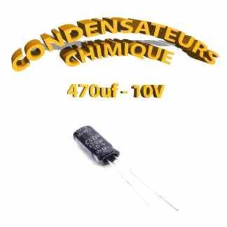 Condensateur chimique 470uF 10V