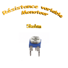 résistance variable mono-tours 5kohm, Potentiomètre ajustable 5kohm