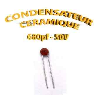 Condensateur Céramique 680pf - 681 - 50V