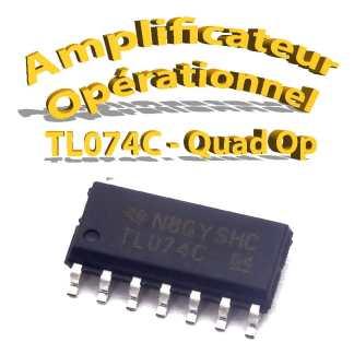 TL074C - amplificateurs opérationnels - 4 OP