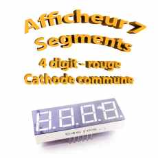 Afficheur 7 segments Rouge 4 digit- 50x19mm