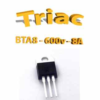 BTA08 600V, 8A, 50ma THT, TO220