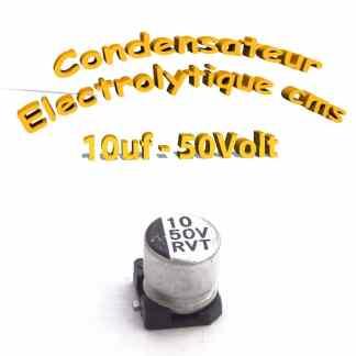 Condensateur électrolytique CMS - SMD 10uF 50V