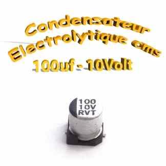 Condensateur électrolytique CMS - SMD 100uF 10V