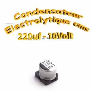 Condensateur électrolytique CMS - SMD 220uF 10V
