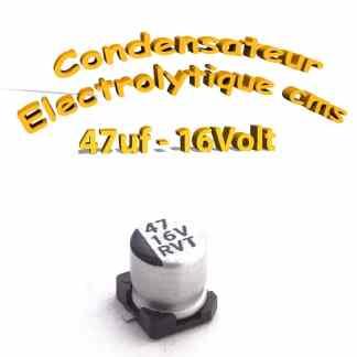 Condensateur électrolytique CMS - SMD 47uF 16V