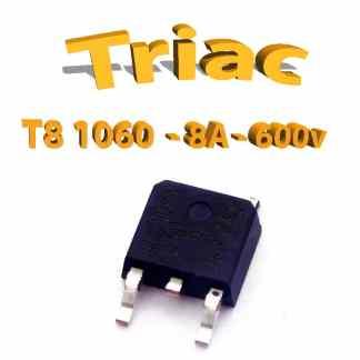 Triac T8 1060 600V, 8A, 50ma THT, d2pack