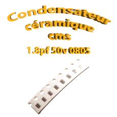 Condensateur ceramique 1.8pf - 50v -10 % - 0805