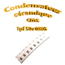 Condensateur ceramique 1pf - 50v -10 % - 0805