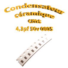 Condensateur céramique 4,3pf - 50v -10 % - 0805