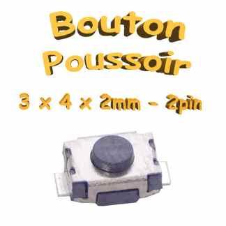 Bouton Poussoir 3x4x2mm - 2pin - à souder pour CI