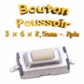 Bouton Poussoir 3x6x2.5mm - 2pin - à souder pour CI