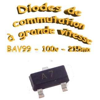 BAV99 - Diode petits signaux - A7 - 70V - 200ma