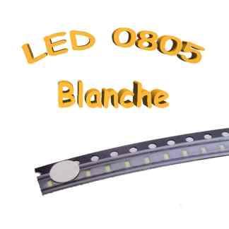 LED 0805 blanche - 3V-3.2V - 20mA - CMS/SMD