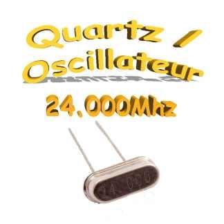 Oscillateur / Quartz 24Mhz- HC-49s