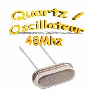 Oscillateur / Quartz 48Mhz - HC-49s