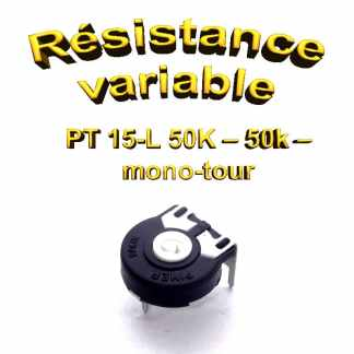PT 15-L 50K – 50k – Résistance variable mono-tour