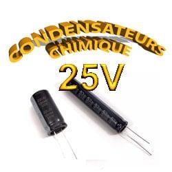 Condensateur Chimique / Condensateur Électrolytique 25V