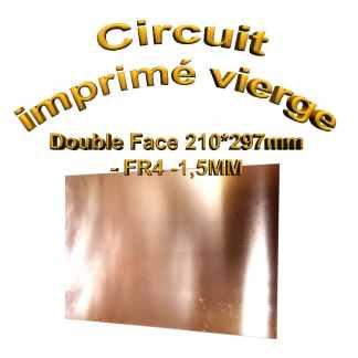 Circuit imprimé vierge double face - 297x210mm - FR4 - 1,5mm