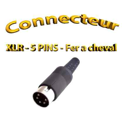 Connecteur XLR - en forme de fer cheval - 5pins