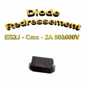 ES2J - 600V Diode de rectification - 2A - DO-214
