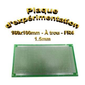Plaque d'expérimentation à trou - 160 x100mm - FR4 - 1,5mm - 35µm
