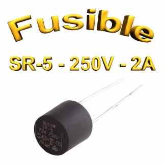 Fusible Temporisé Radial 2A 250v buss sr5 - 5,08mm