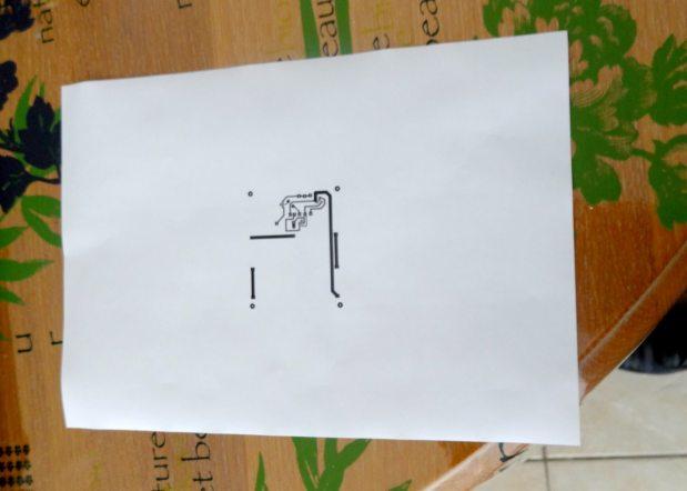 typon feuille blanche circuits imprimé