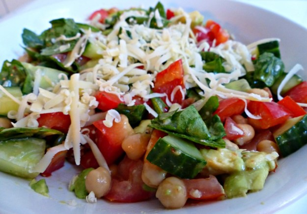 Salade kikererwten