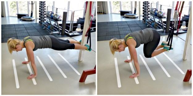 Plank crunch