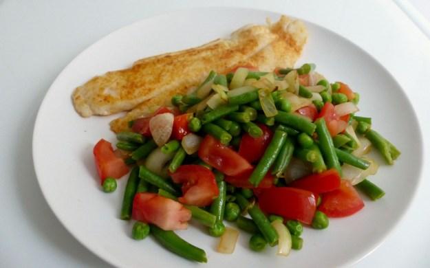 Pangasiusfilet met groenten