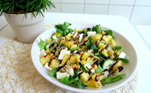 Salade feta ananas