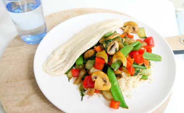 Recept Witvis met Rijst en Groenten