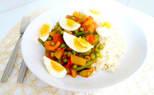 Recept vegetarische groentecurry met ei4