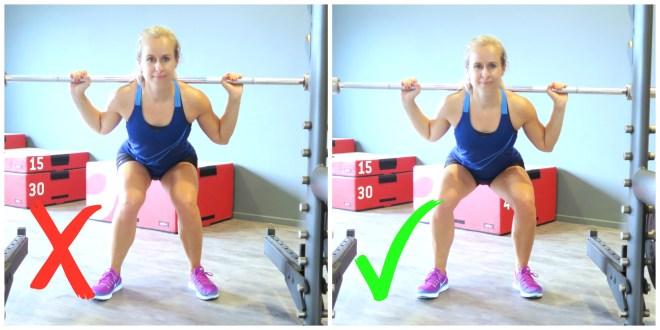 knieen goed recht met squat