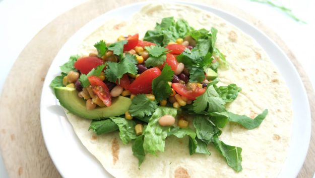vegan lunch wrap