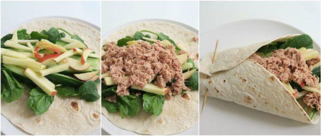 recept wrap met tonijn
