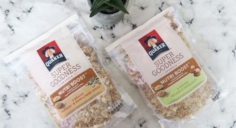 review quaker super goodness granola
