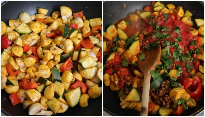 vegan curry recept
