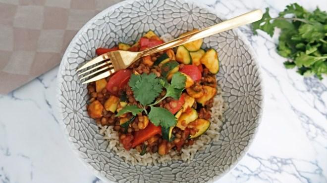 vegan linzen curry