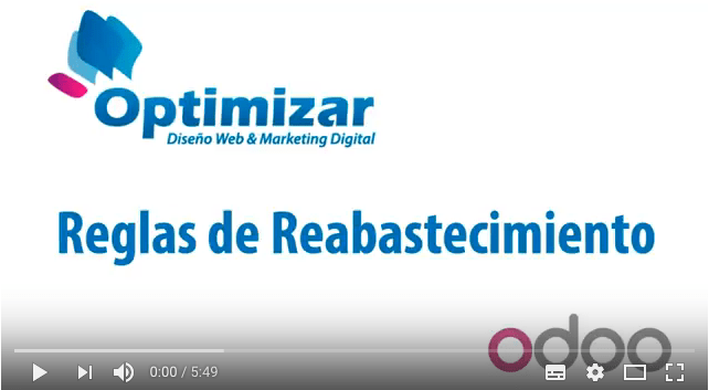 ERP Optimizar – Video Reglas de Reabastecimiento